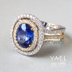 9 out of 10 doctors agree that this blue sapphire and diamond ring will cure your case of #mondayblues . #sapphire