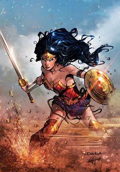 """phrrmp: """"Wonder Woman 2017 DC COMICS (color) by le0arts on @deviantart """""""