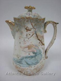 Image detail for -Limoges Art Nouveau Chocolate Pot