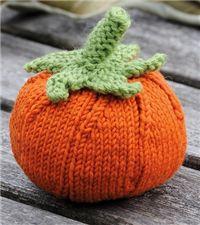 FREE Knitted Halloween Pumpkin