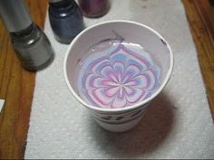 How to water marble nails!