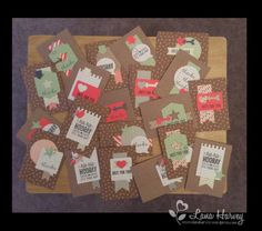 "20 cards & envelopes using Stampin Up ""Hip Hip Hooray"" card kit 134998"