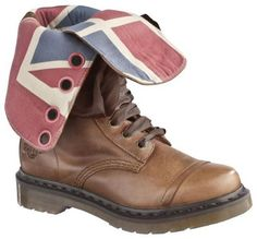 Doc Martens Triumph with UNION JACK lining...get in my closet!