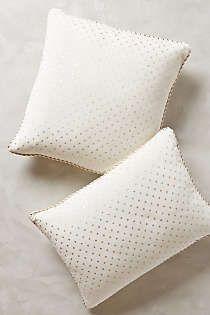 Anthropologie - Dotted Velvet Pillow