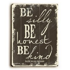 """12 in. x 16 in. Be Silly by Misty Diller """"Planked Wood"""" Wall Art"""