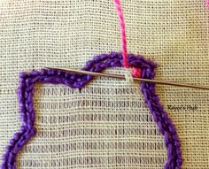 Mosquito Stitch is another beautiful filling stitch. The threads are drawn in a pattern similar to the Waffle Stitch, that is in one d...