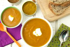 Spiced Carrot Cauliflower Soup recipe
