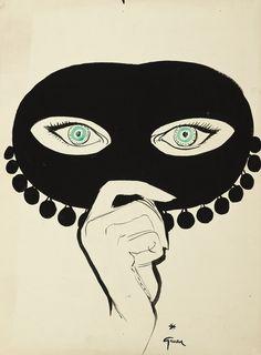 rumforall: René Gruau (1909-2004) Le Masque