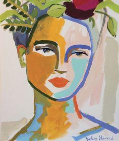 Hippie Kunst, Arte Hippy, Arte Indie, Frida Art, Portrait Art, Portraits, Portrait Paintings, Aesthetic Art, Art Studios