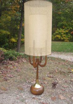 Mid Century Danish Modern  Lamp. $179.00, via Etsy.