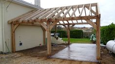 Garage: Einfache Pergola-Ideen Kleine Pergola im Haus . There are plenty of items that can Small Pergola, Pergola Attached To House, Diy Pergola, Pergola Ideas, Attached Carport Ideas, Cheap Pergola, Rustic Pergola, Attached Garage, Wood Projects