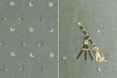 Kit Kemp for Chelsea Textiles  - 'Moondog'