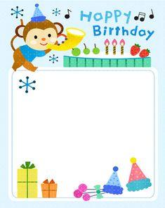 Daum 블로그 Happy Birthday Frame, Happy Birthday Wishes Images, Birthday Frames, Birthday Board, Birthday List, Happy Birthday Cards, Holidays And Events, Planner Stickers, Diy And Crafts