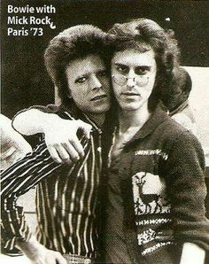 David Bowie and Mick Rock