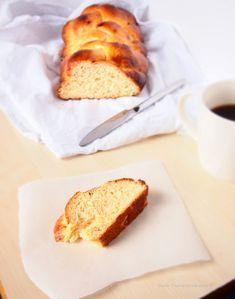Traditional Greek Sweet Bread Tsoureki. Moist and sweet, ideal for dessert, brekfast or snack!