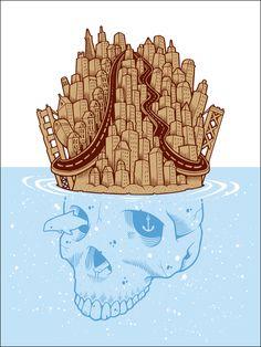 Jeremy Fish 'The Golden Hills' Print - mashKULTURE