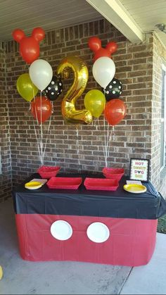 Mickey Mouse Birthday Party, Mickey Mouse Birthday Cake, Mickey Mouse Party Ideas, Disney Birthday, Party Decor