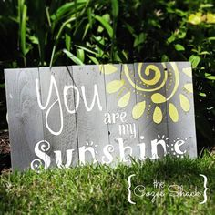 You are My Sunshine sign / wall art / pallet by TheCozeeShack