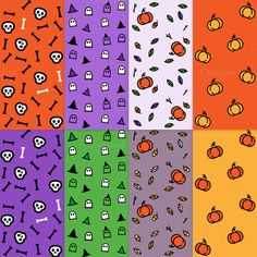 Check out Halloween seamless patterns by Side Project on Creative Market