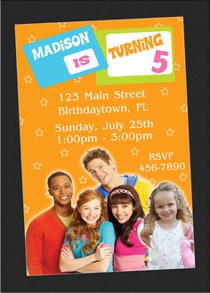 The Fresh Beat Band Birthday Invitations