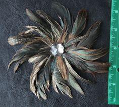 Feather flower hair clip $9