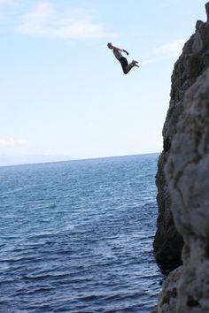 Cliff dive into dierkes lake Idaho when I was younger..