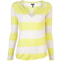 Splendid Rugby Stripe Sweater ($152) ❤ liked on Polyvore