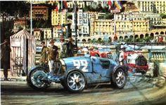 Rene Dreyfus driving a Bugatti T35B won the 1930 Monaco Grand Prix.