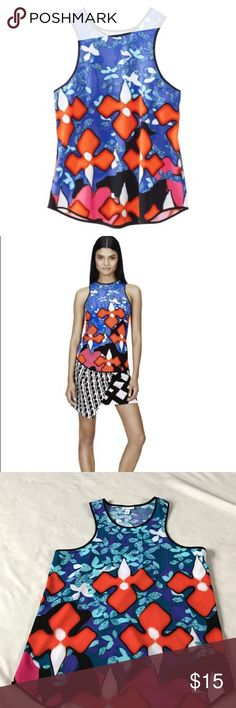 """Peter Pilotto Multicolored Racerback Floral Tank 27.5"""" length 18"""" armpit to armpit. Sold out collaboration with Target. Multicolored Floral Tank. Great to pair with jeans, leggings, or shorts. Racerback style. Bundle 2+ items for a discount. Peter Pilotto for Target Tops Tank Tops"""