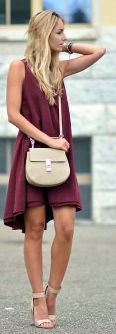 Bordeaux Summer Dress by The Vogue Word