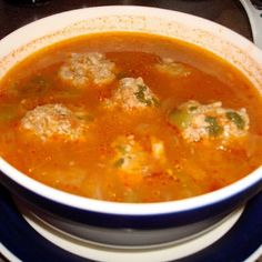 Albondigas (Spanish Meatball Soup) - I grew up on this stuff, and still cant get enough!