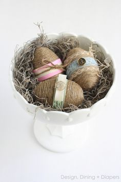 Shabby Chic Easter Eggs From Dollar Store Plastic Eggs