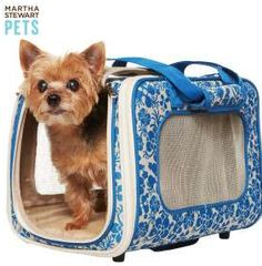 liberty print dog carrier