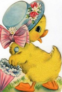 Cute Easter duckling