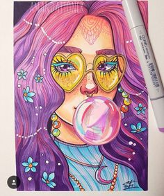 Multiple couleur sarcasm in 2019 copic marker art, art sketches, copic art. Watercolor Art, Art Sketchbook, Art Drawings, Drawings, Art Projects, Cute Art, Art, Marker Art, Copic Marker Art