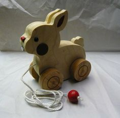 Wooden Pull Toy Critters