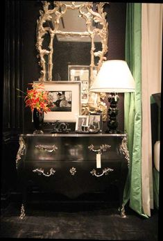 Ralph Lauren  furniture...this would be perfect for our foyer.  Compliments of Apartment Therapy.