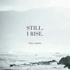 We rise from the pains we endure and conquer