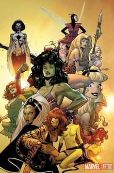 Black Widow, Dazzler, Hellcat, Jean Grey, Ms. Marvel, Photon, Shanna the She Devil, She-Hulk, Gwen Stacy, Storm, Tigra, Patsy Walker, & Wasp