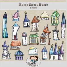 SoMa Design: Home Sweet Home - Houses Digital Scrapbooking, Sweet Home, Houses, House Design, Kit, Homes, House Beautiful, Architecture Illustrations, House