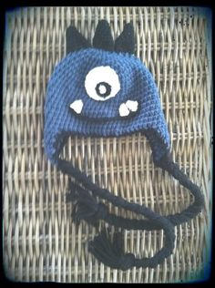 Monster Crochet Beanie Hat with Earflaps by TheLovelyyarns on Etsy, $20.00