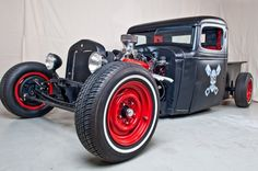 34 Chev Truck. love this, esp the skull with crossed pistons :D