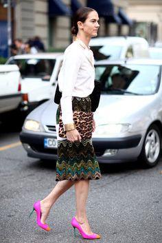 Milan Fashion Week Street Style: Photo: Greg Kessler