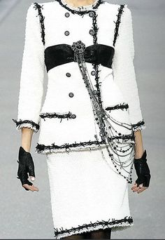 Chanel ~ Spring 2009 RTW Interesting take on the classic Chanel suit