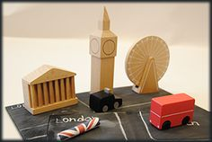kiko+ London magnet town:  London version of our classic magnet town series...make your own map!