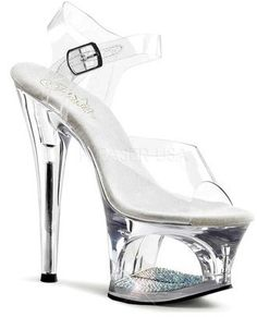 a7a0a2684 Womens Silver Platform Heels Black Sandals Ankle Strap Shoes Sexy 6 Inch  Heels Size 14    Read more reviews of …