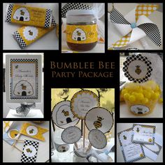 DIYPersonalized Bumble Bee Baby por oohlaladiapercakes en Etsy