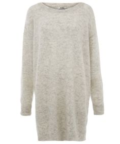 Acne Grey Wham Mohair Knitted Jumper Dress