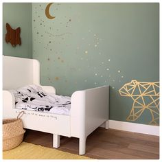 Moon & stars (wall stickers / wall decal) - Moon and stars wall stickers for the nursery! in addition, you can see the geometric bear – all i -