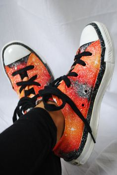 Galaxy hand painted converse shoes by LittleArtMonsterr on Etsy, $101.00